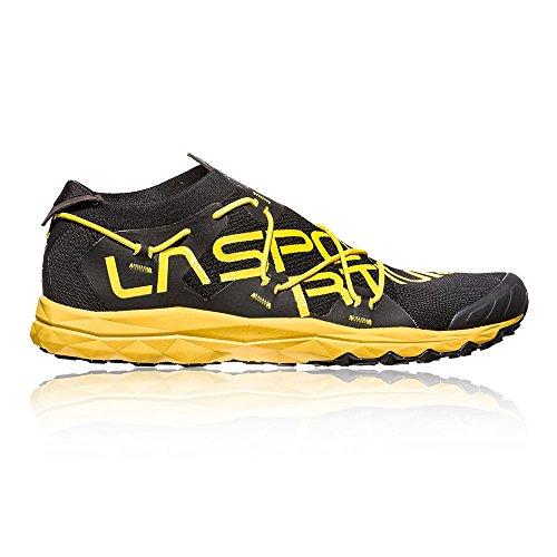 La Sportiva VK, Zapatillas de Trail Running para Hombre, Multicolor Black/Yellow 000, 46 EU
