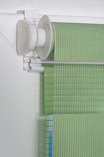 K-home Klemmfix Doppelrollo Madrid ohne Bohren Grün 40 x 150 cm (B x L) - 7