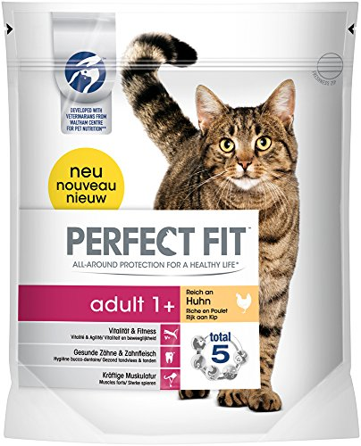 Perfect Fit Cat Trocken Adult 1 plus reich an Huhn, 750 g