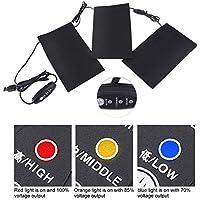 Tbest Elektrische Wärmekissen Heizkissen für Schmerzlinderung Rücken Nacken Shultern, 5V 2A 8.5W elektrische USB-Kleidung... preisvergleich bei billige-tabletten.eu