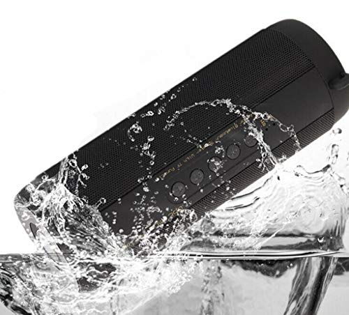 Bluetooth-Lautsprecher Tragbare wasserdichte Outdoor-Wireless-Lautsprecher Verbesserte Bässe, gemeinsame Synchronisierung, eingebautes Mikrofon, TF-Karte, FM-Radio für Strand