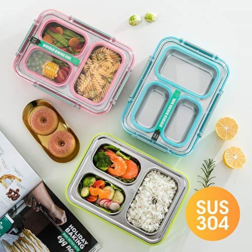 kkunnma 304 Edelstahl-Fliesen Abdeckung Kinder Studenten Isolierung, wenn Box Wasser Anti-Spill Anti-Serier-Geschmack Multi-Food-Platte