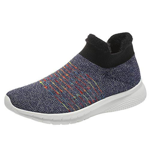 MEIbax Paar Outdoor Mesh Schuhe Sneaker Damen Herren Casual Slip On Komfortable Sohlen Laufsportschuhe Turnschuhe Warme Gefütterte Sportschuhe