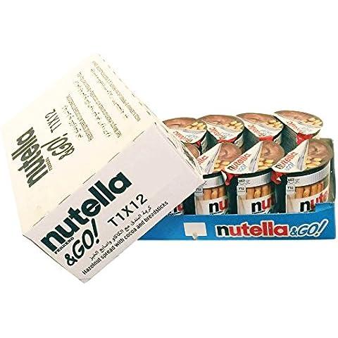 Ferrero Nutella & Go (crema de avellana y la barra de pan) 52gx12 piezas