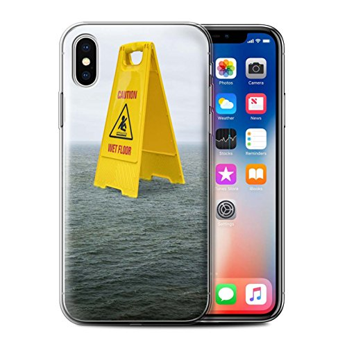 Stuff4 Gel TPU Hülle / Case für Apple iPhone X/10 / Londons Brenn Muster / Vorstellen Kollektion Nasser Boden