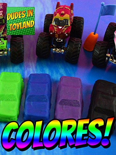 Learn colors in Spanish with toy monster trucks - Aprende los colores...