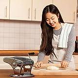 bonVIVO® Pasta Mia (NEUES DESIGN) Nudelmaschine aus Edelstahl in Chrom-Look, für den italienischen Pasta-Genuss aus der eigenen Küche, mit rutschfesten Ansaugsockel - 3