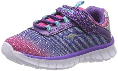 KangaROOS Unisex Baby K-Glorious Girl Sneaker, Violett (Purple/Multi 6064), 30 EU