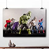 taoyuemaoyi Gerahmte Malerei Hulk Thor Joker Spider Man Dc Marvel Superhelden Poster Leinwanddrucke Wandkunst 40 * 60Cm