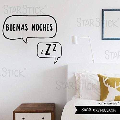 StarStick - Vinilo decorativo - Buenas noches 30x20 cm- Vinilos decorativos citas y frases célebres - T0 - Basico