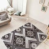 mynes Home Moderner Kurzflor Teppich Designer Versace Muster Beige Braun Creme & Schwarz Grau Weiß...