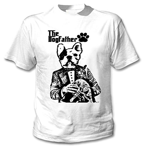 Teesquare1st Men's FRENCH BULLDOG DOGFATHER PB 34 White T-Shirt Size Small