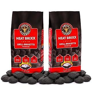 Grill Republic Premium Grill Holzkohle Briketts mit heißer Glut und langer Brenndauer | Schnelles und sicheres Anzünden | 100% Qualitätsgarantie | 2 x 8,5 kg