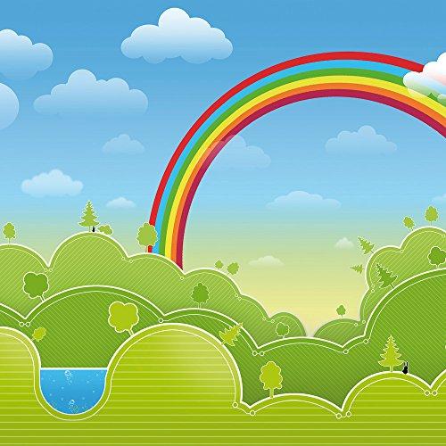 Apple iPhone 4s Case Skin Sticker aus Vinyl-Folie Aufkleber Regenbogen Comic Wald DesignSkins® glänzend