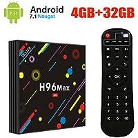 [2018 Upgrade Version] UKSoku H96 Max 4Go + 32Go TV Box 4K Ultra HD Android 7.1 Boîtier TV RK3328 Quad-Core 64bit 2.4G/5G Dual-Band WiFi Ethernet H.265 Bluetooth 4.0 3D Set Top Box