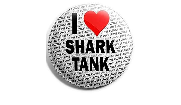 """Stocking Filler Gift Birthday I Love Great White Sharks Pin Badge 3/"""" 75mm"""
