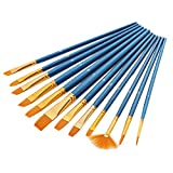 #9: Magideal 12Pcs Artify Paint Brush Set Perfect for Acrylic Watercolor Gouache Face
