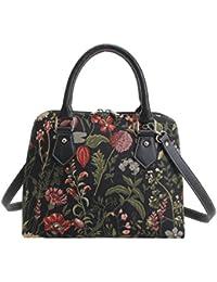 1140288b45 Ladies Tapestry Top Handle Handbag Shoulder Bag with Garden Flower by  Signare