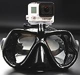 WOWDECOR Tauchmaske für Gopro Kamera Erwachsene Kinder mit Kurzsichtigkeit Kurzsichtig, Schnorchelmaske Taucherbrille Dioptrin Dioptrien Korrektur - Alles schwarz (-2,0)