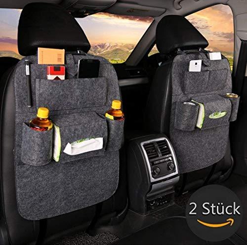 -Rückenlehnenschutz, Rückseite Sitz Auto Organizer, Multifunktionale Stuhl Zurück Aufbewahrungstasche mit Tablet Halterung für Kinder Kick Matte für iPad,iPhone,DVD,Getränke ()