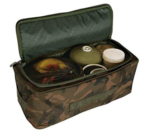 Fox Camolite Standard Storage Bag 39x15x18cm - Tackletasche, Angeltasche zum Karpfenangeln, Tasche für Angelzubehör (Fur Fox Bag)