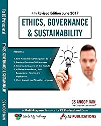 Anoop Jains Ethics, Governance & Sustainability for CS Professional June 2017 Exam by AJ Publications