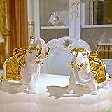 Toaryong Lucky Elephant Handwerk Ornamenten Aus Ein Großes Wohnzimmer Schrank Büroeinrichtung Schreibtisch Heimtextilien Mode Schmuck, Goldene
