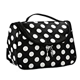 Contever Multifonction Pouch Makeup Cosmetic Bag Case Toiletry Zip Wash Polka Dots Organizer Voyage Big Size - Blanc