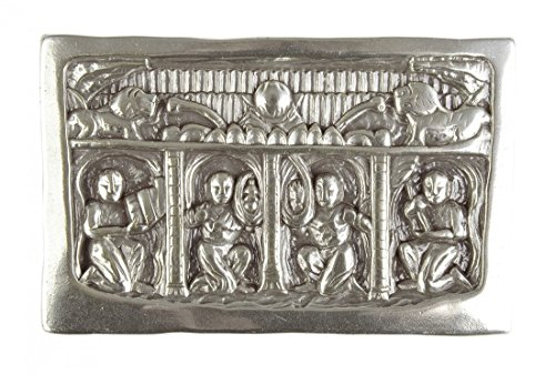 Preisvergleich Produktbild Gürtelschnalle - Mittelalter Relief mit Löwen - Schliesse für Wechselgürtel als Geschenk-Idee