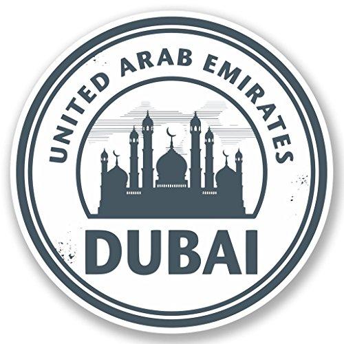 Preisvergleich Produktbild 2 x 10cm/100mm Vae Dubai Vinyl SELBSTKLEBENDE STICKER Aufkleber Laptop reisen Gepäckwagen iPad Zeichen Spaß #5110