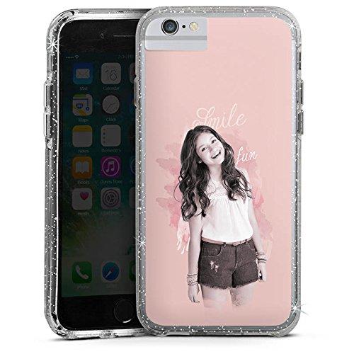 Apple iPhone 7 Bumper Hülle Bumper Case Glitzer Hülle Disney Soy Luna Serie Bumper Case Glitzer silber