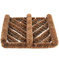 Ninamar Natural Coir Boot Scrubber Door Mat - 30 cm x 33 cm