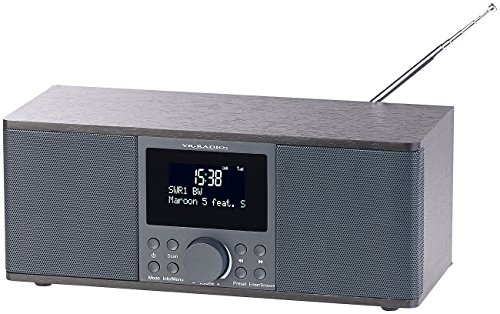 VR-Radio Badradio: Digitales DAB+/FM-Stereo-Radio, Bluetooth & Wecker, 30 Watt, schwarz (Stereo Digitalradio)