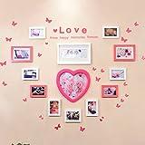 Asl Solide Herz-Holz Photo Frame Wall Wall kreativen Hintergrund Wand Bilderrahmen aufhängen Hochzeit Foto von Hochzeit Geschlecht Herzform Papier-Mainstream Stil andere Happy A