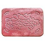 Ai.Moichien 3D Fußmatte Anti Slip Wasser Saugfähigen Pad Teppich Matte Küche Bad Bodenmatte Rosa Blume 40 * 60 cm