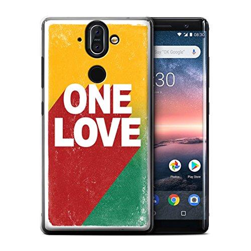 Sirocco Kollektion (Stuff4® Hülle/Case für Nokia 8 Sirocco 2018 / One Love Poster Muster/Rasta Reggae Kunst Kollektion)