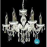 Cristal ARAÑA de CRISTAL Ermes 6 lámparas con Murano cristal utilizando de SPECTRA CRYSTAL de SWAROVSKI