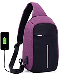 Kinlene Mochila para portátil Bolsas Bandolera Bolsas Escolares antirrobo con Puerto USB