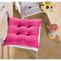 Tia-Ve Soft Stuhlkissen Sitzauflage für Küche Esszimmer Stuhl 40x40x8cm Dunkelviolett Rosa rosa