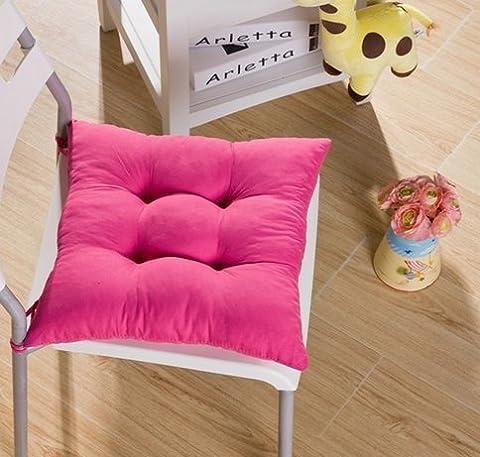 Tia-ve doux Coussin de chaise Coussin de siège Coussin de chaise de cuisine Jardin Chaise de salle à manger 40x 40x 8cm Violet foncé, rose vif, Pink1