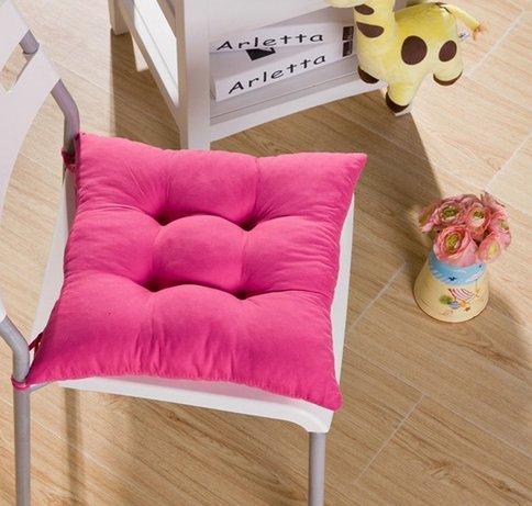 srovfidy Sitzkissen weich-Stuhl-Kissen Sitz-Kissen Küche Garten Esszimmerstuhl 40x 40x 8cm Size 1pcs (Hot Pink)