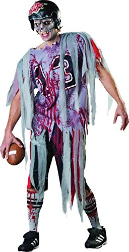 shoperama Halloween Herren Kostüm Zombie Football Spieler Gr. M/L Horror Player Quarterback Amarican (Zombie Football Kostüm)