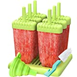 HUAH Eisformen, 6 Stücke Popsicle Formen Set, BPA frei Ice Lolly Moulds, Spülmaschinenfest, DIY...