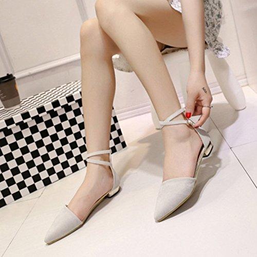 Elegante-Sandali da donna con cinturino alla caviglia, incrocio Sexy Shoes-Sandali in nabuk, motivo intagliato Grey