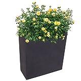 Freizeitmöbel und Leitern Pflanzkasten Anthrazit 59,5x26,5cm Blumenkasten Hochbeet Terrasse Sichtschutz