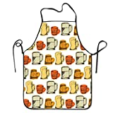 cartoon drink beer pattern aprons bib unisex lace adjustable polyester chef cooking long full