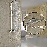 Luxurious shower Einzigen Griff 8/10/12 Zoll Regenduschkopf Badezimmer Dusche Mixer Wasserhahn Set schwenkbar Whirlpool Füller mit Dusche mit abnehmbarem Duschkopf, Multi