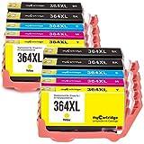 MyCartridge 10 Pack kompatibel HP 364XL 364 XL Tintenpatronen für HP Photosmart 5510 5520 5522 5524 6510 6520 7510 C5324 C5380 C6324 C6380 HP Deskjet 3070A 3520 3522 3524 (Schwarz/Cyan/Magenta/Gelb)