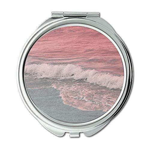 Yanteng Spiegel, Schminkspiegel, Strandlandschaftsnatur, Taschenspiegel, tragbarer Spiegel