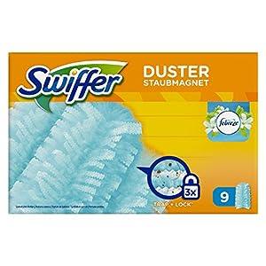 Swiffer – Staubmagnet Nachfüller mit Febrezeduft, 1er Pack (1 x 9 Tücher)